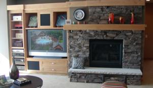 Custom Tile or Stone Fireplaces and Hearths